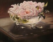 Mum's Rose Bowl 10 X 14     Pastel
