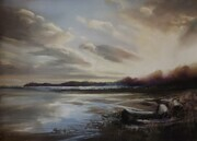 Sunrise on Qualicum Beach     Pastel       12 X 17